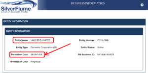 Lawyers Limited Nevada Corporation