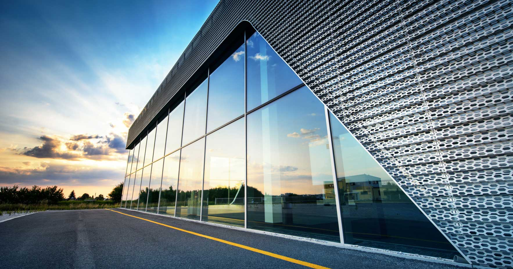A commercial building managed through easy work order's enterprise saas system