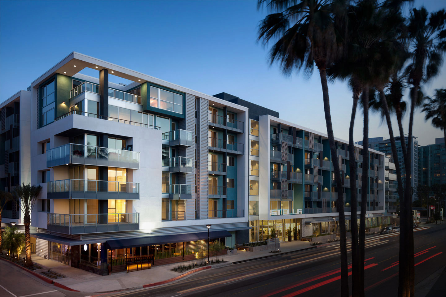 A residential apartment complex managed through easy work order's enterprise saas system