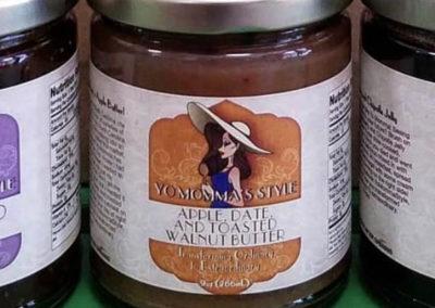 Yo Momma's Style Food Jar Label
