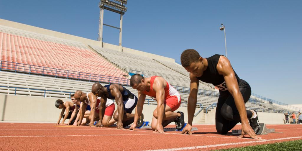 Athletes at start of race