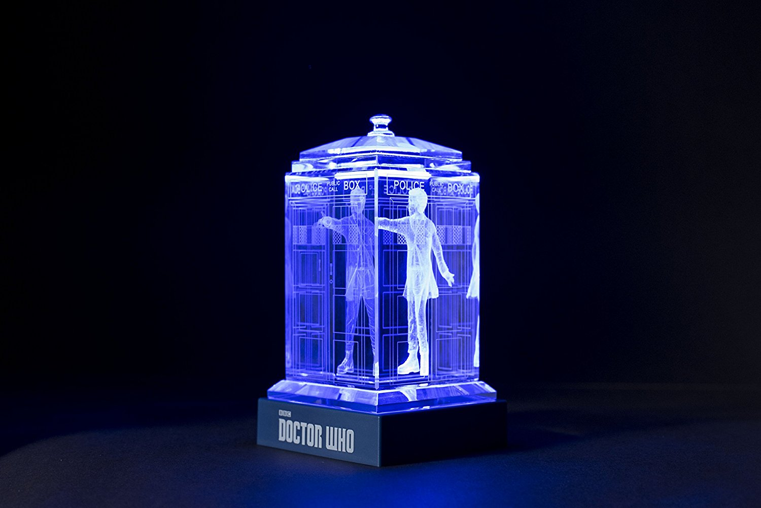 Roll over image to zoom in Crystal Carvings Officially Licensed Doctor Who Crystal TARDIS (Peter Capaldi)