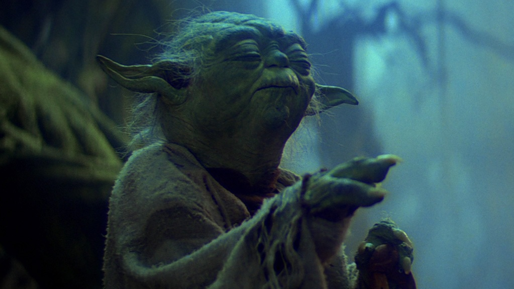 Yoda's most memorable quote, bar none, and one of the greatest in all of Star Wars. This is another line from the X-wing sequence on Dagobah, and are the last instructions the Jedi Master gives Luke before he attempts to raise his fighter from the swamp.
