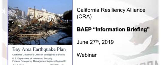 Bay Area Earthquake Plan Webinar