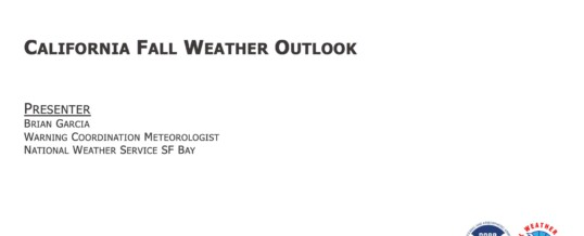 California Fall 2020 Weather Outlook