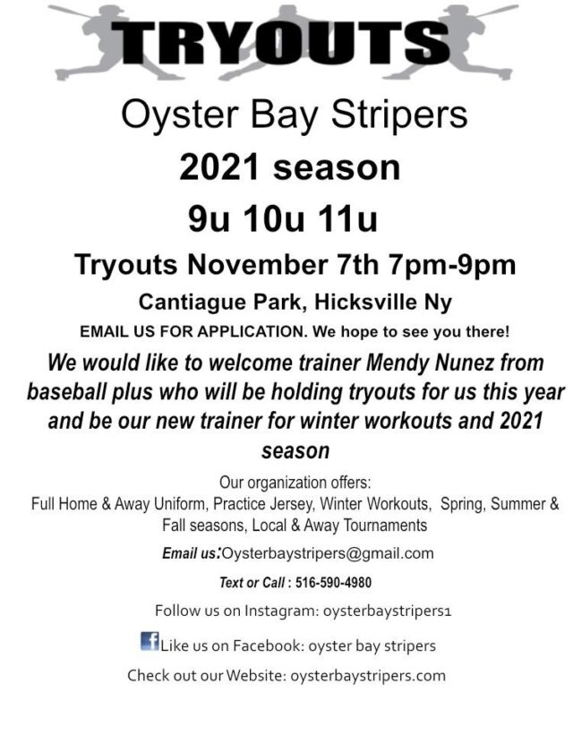 2021 Oyster Bay Stripers Tryouts
