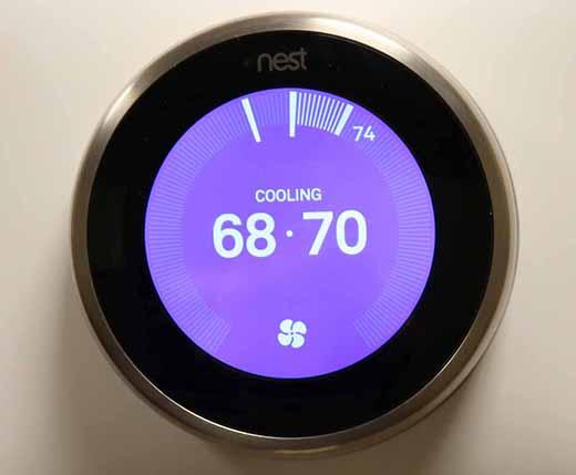 Photo of a nest thermostat