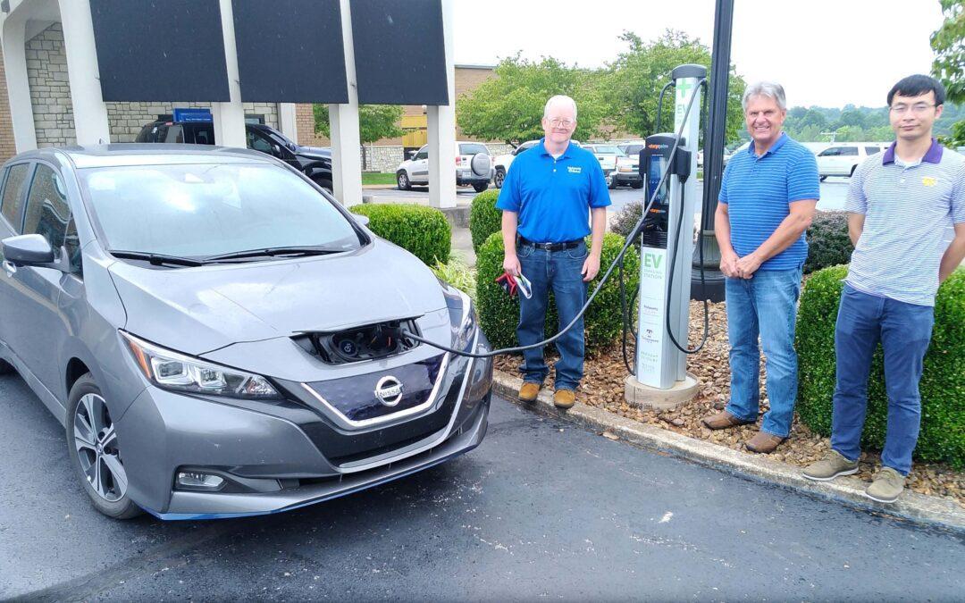 Photo of car at charging station
