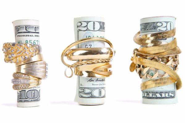 jewelry with cash bills inside