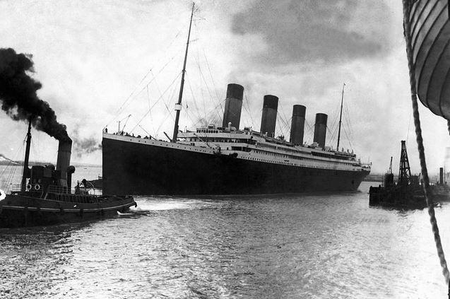 Black And White Photo Of Titanic