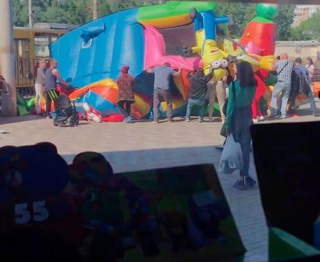 Bouncy Castle Explosion