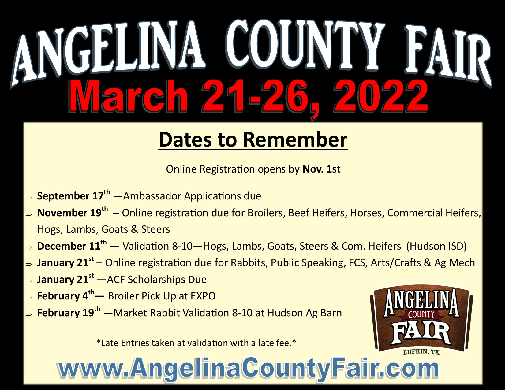 Important Dates for FB