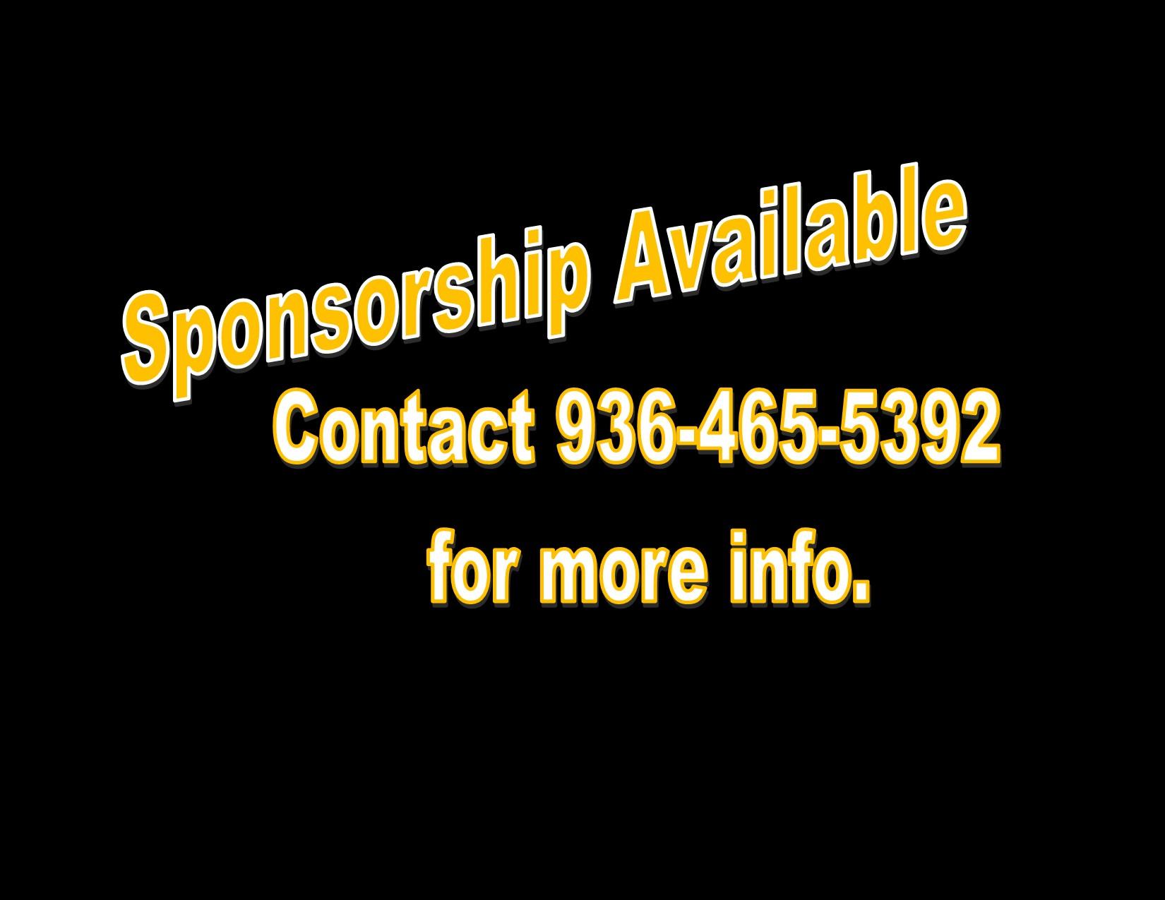 Sponsorship available