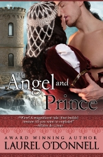 Romance novel cover for The Angel and the Prince - a Medieval Romance