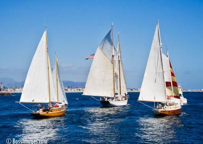 McNish sailboat racing finish line