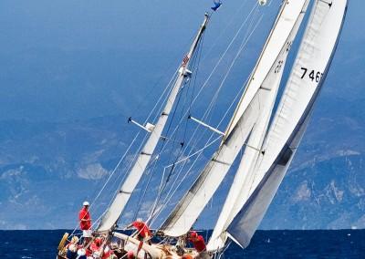 sailboat keeling