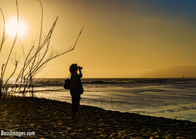 Woman watches sunset Ventura-1