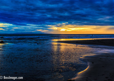 Sunset Ventura River mouth-1-2