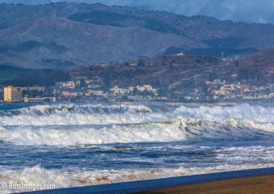 Big surf with Ventura in background-1
