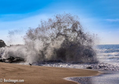 Mugu Beach wild wave splash-1