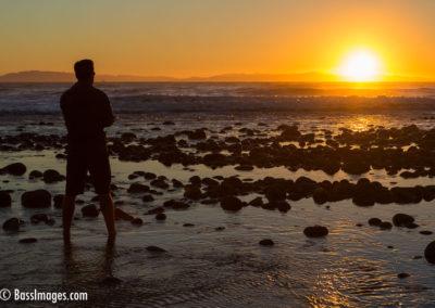 Man sunset Channel Islands-1