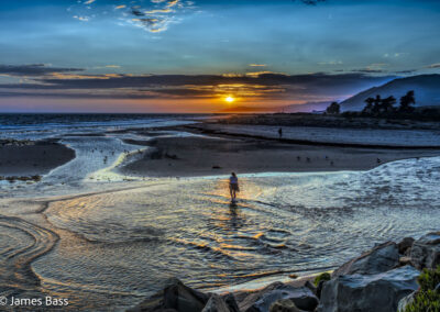 Ventura river-beach sunset -3