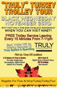 Ride the Truly Turkey Trolley on Black Wednesday