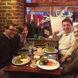 Abraham Palmer, Stephanie Dulawa, John Cryan, and Iiris Hovatta at IBANGS in Belgium