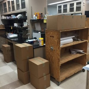 Lab Move - UChicago to UCSD - December 2015