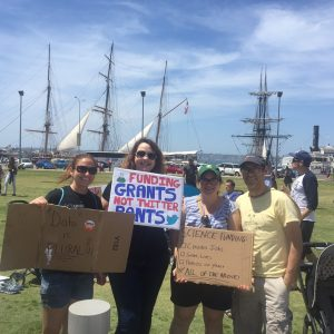 Abe, Celine, Amanda, and Marcia -- March for Science, Apr 2017