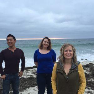 Yu-yu, Celine, Hannah -- Lab party, May 2017