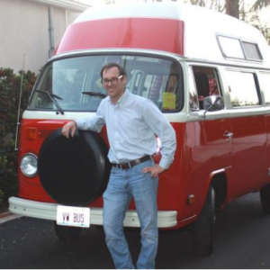 Abe is featured in the La Jolla Light with his VW van!