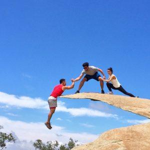 Team building: Saturday morning trust fall
