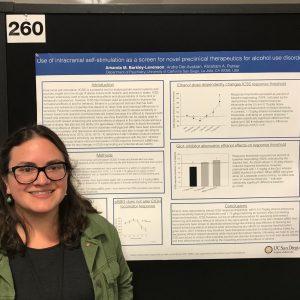 Amanda presenting a poster at ACNP 2017