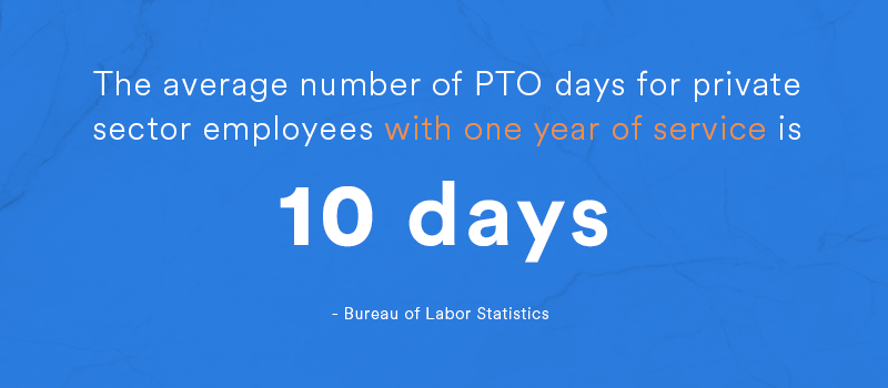average number of pto days
