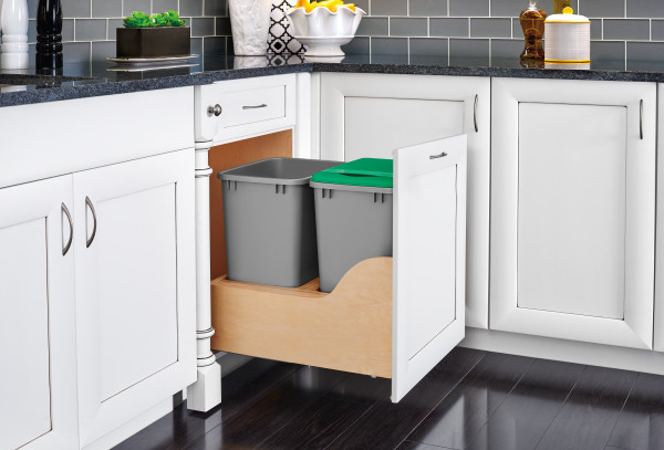 Double 35 Qrt Pull-Out Waste Container