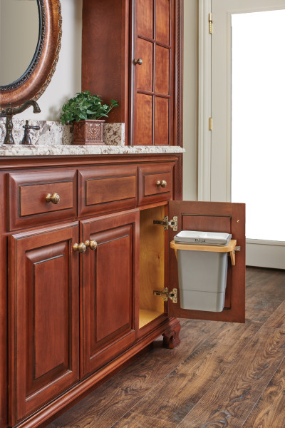 Vanity Door Mount 8 Qrt Waste Container