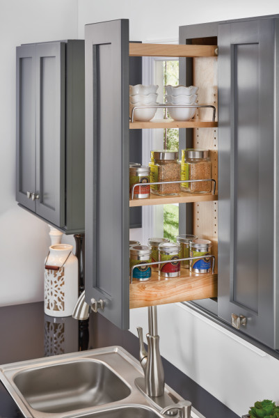 Wood Pull-out Wall Organizer