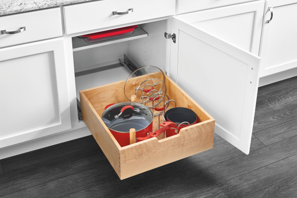 Wood Tall Pullout Drawer