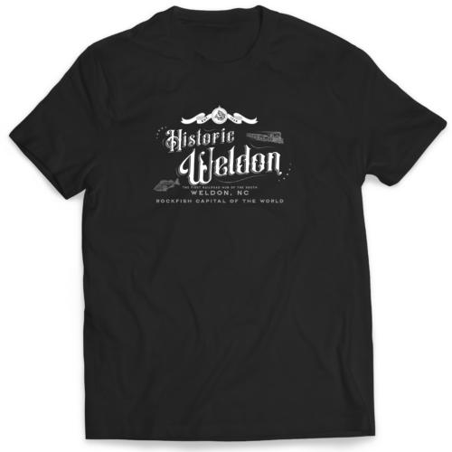 Historic Weldon T-shirt. The first railroad hub of the south Weldon, NC Rockfish Capital of the World. Buy online mastuhreebrand in $25.