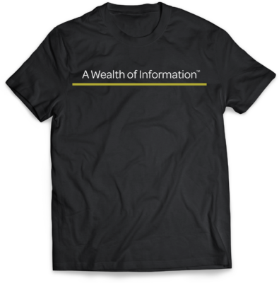 A Wealth of Information- Black T-Shirts. A Wealth of Information is what we provide at Mastuhree Brand.