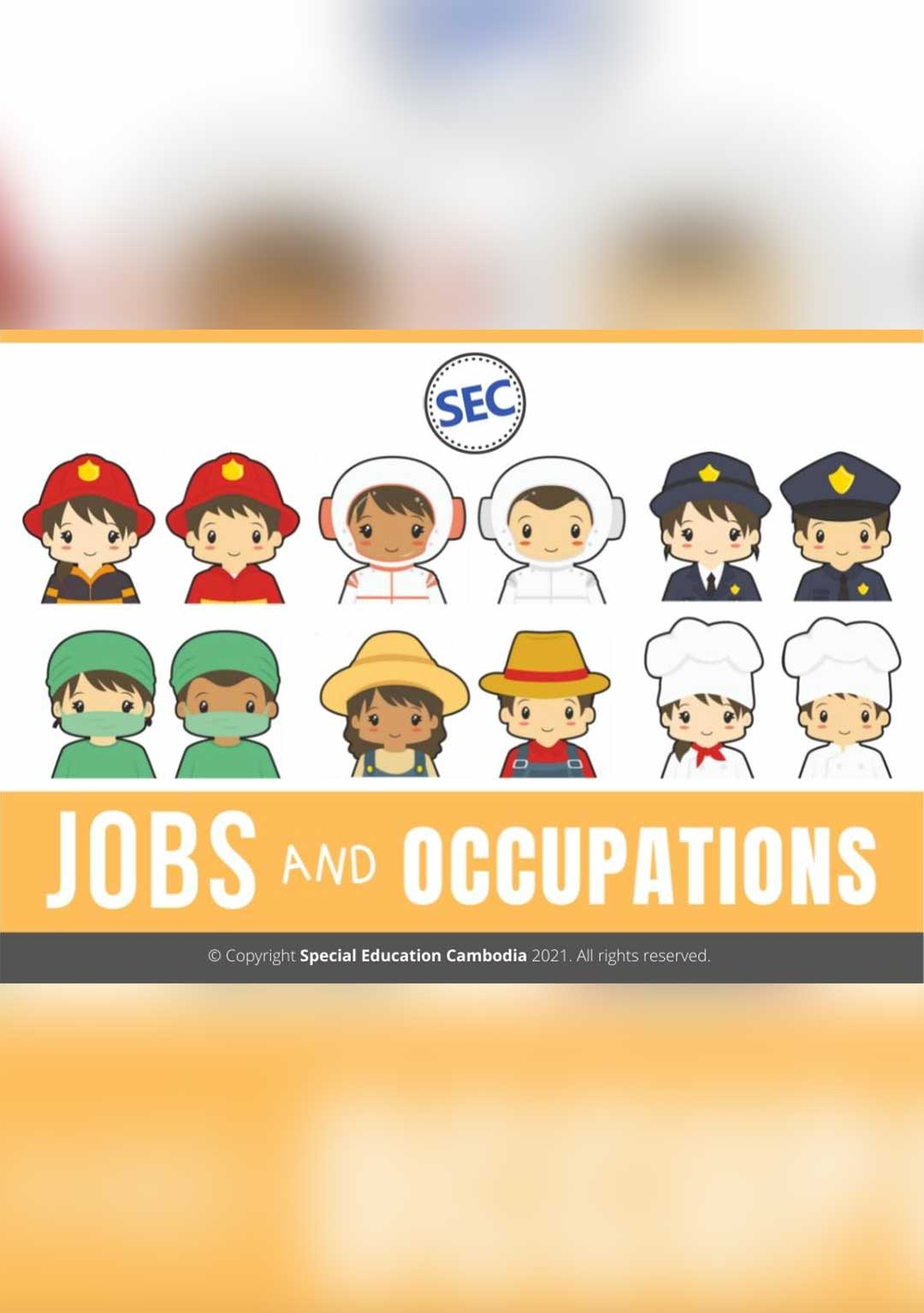 Jobs and Occupations Activity Book