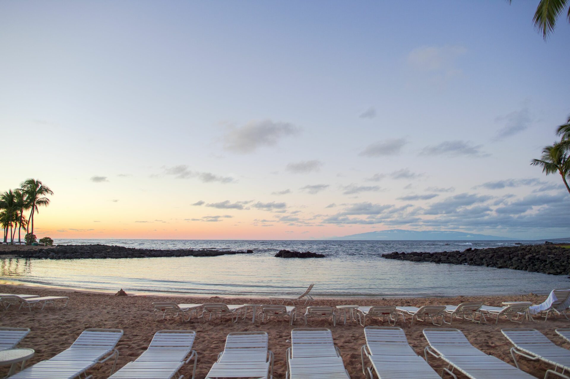 34981559 - hawaian beach at sunset time