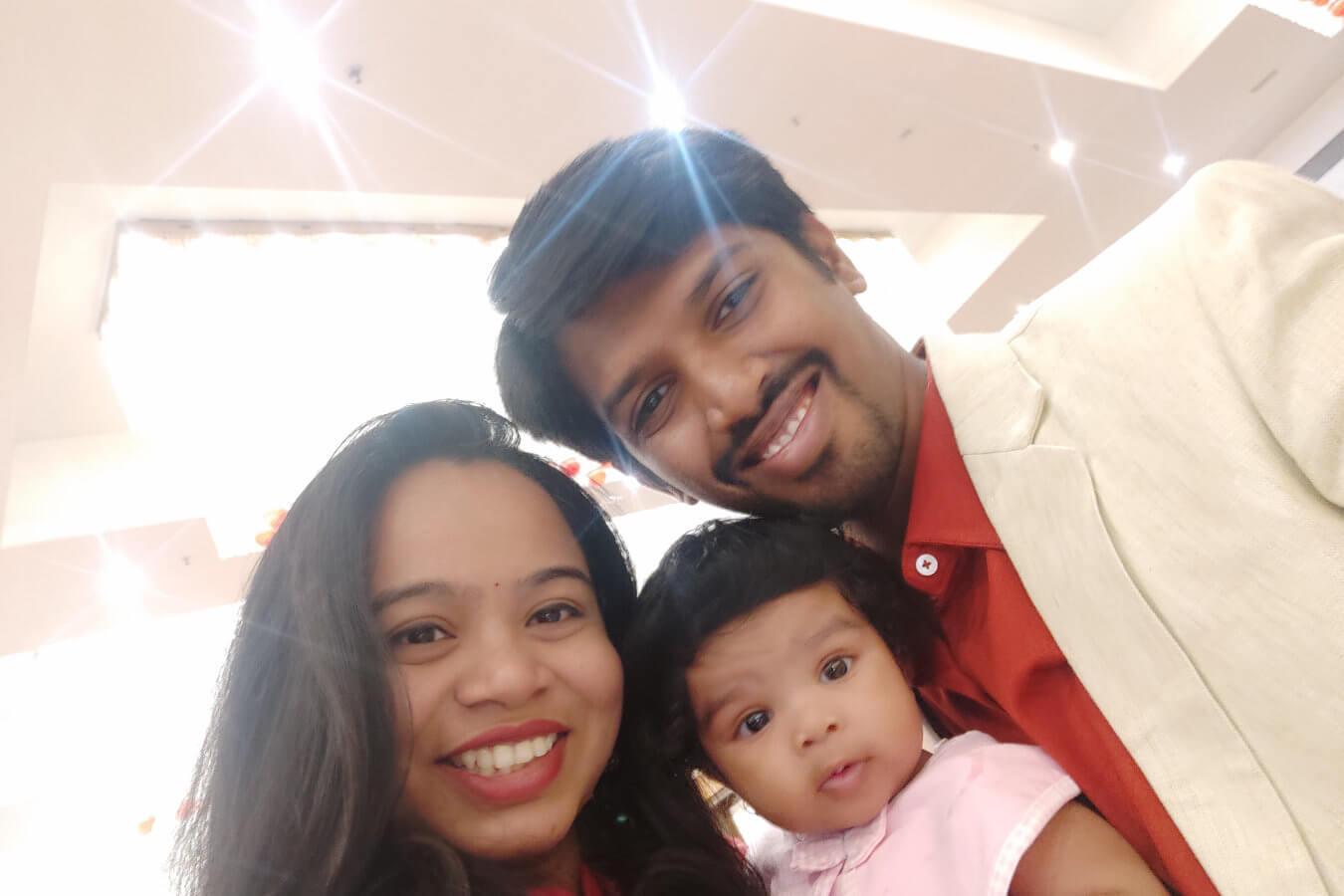 Client Gaurav & Rima with their Child