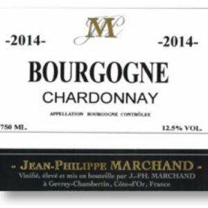 A Bourgogne Chardonnay label