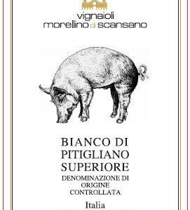 A Bianco di Pitigliano 2019 or Piggy White bottle