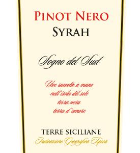 A Pinot Nero Syrah IGP Eghemon 2013 bottle