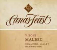 A Cana's Feast Malbec Columbia Valley label