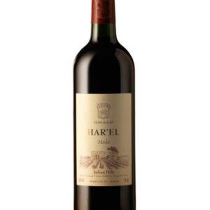 A Harel Merlot bottle