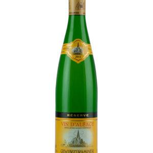A Hunawihr Gewurztraminer bottle
